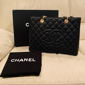 Auth Chanel GST Black Caviar Gold hardware NEW